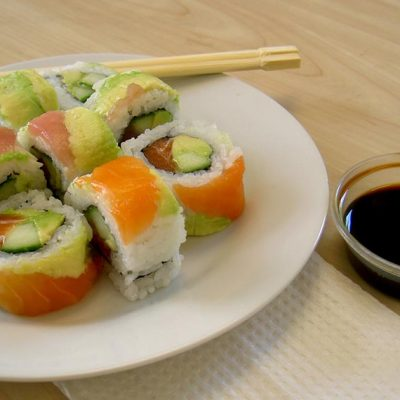California roll saumon avocat
