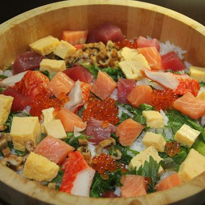 Chirashi omelette poisson