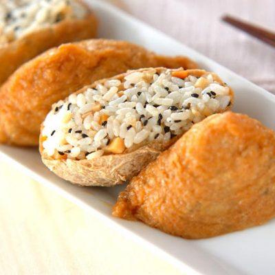 Inari Sushi sesame et petits légumes