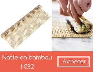 Natte en Bambou pour sushi