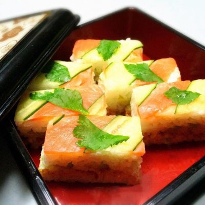 oshizushi saumon concombre